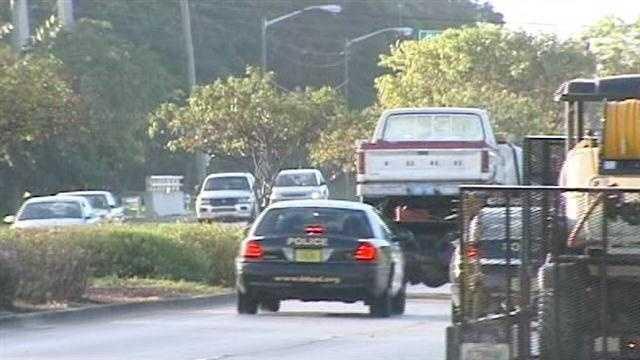 Truck that struck girl towed