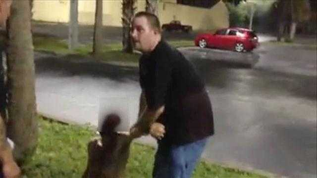 Image Video: Man's punch knocks out disabled homeless man