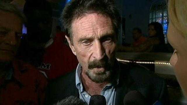 John McAfee is wanted for questioning in Belizein connection with the death of a U.S. expatriate who lived near him.