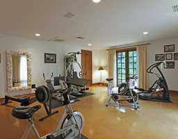 Exercise room, one of many special amenities.