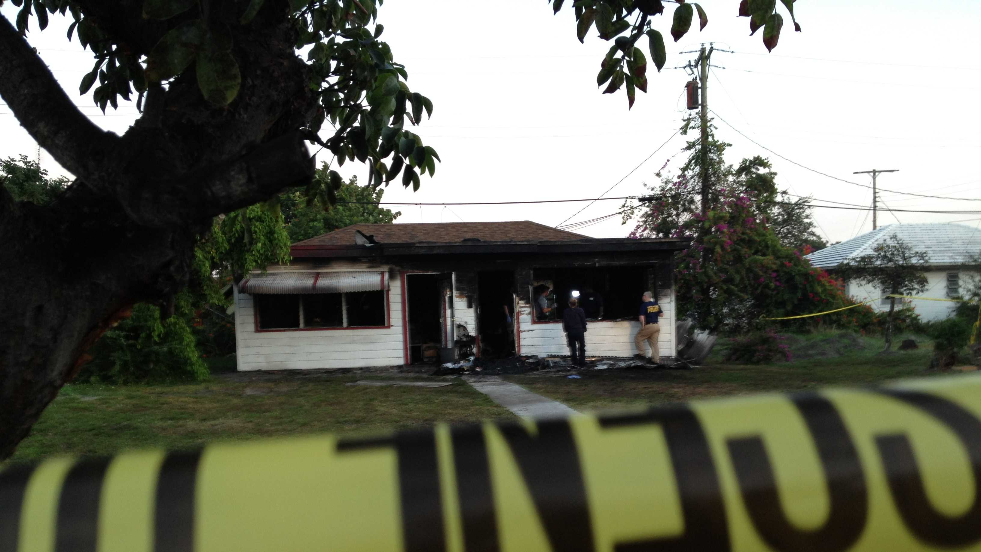 A man's body was found inside this home after a fire.