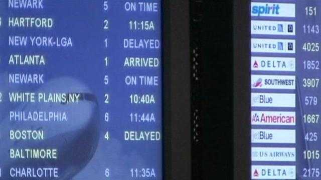Image Flight delays reported at PBIA
