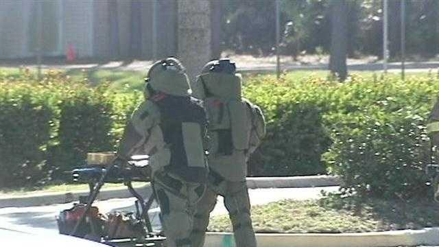 A bomb squad was called to Palm Beach Gardens on Wednesday morning before a suspicious package was deemed not to be a threat.