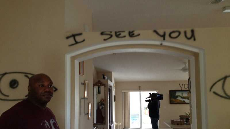 Vandals broke into this Port St. Lucie home on Thursday, and police are trying to figure out if it was a hate crime. (Photo: Terri Parker/WPBF)