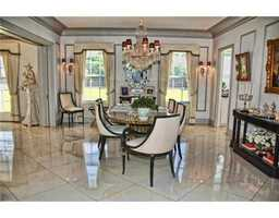 Formal dining area.