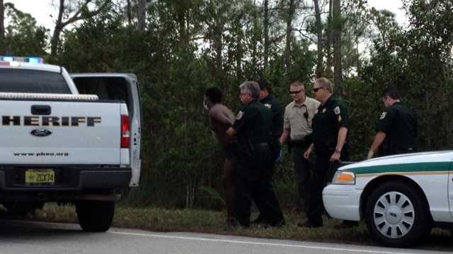 Police took a man into custody after Monday's high-speed chase reached speeds of 100 mph before ending in Jupiter. (Photo: Shelli Lockhart/WPBF)