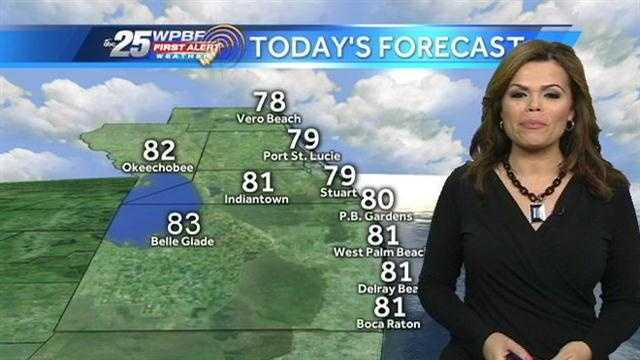 Felicia says drier conditions are on tap around the area Wednesday after some rain before the sun came up.