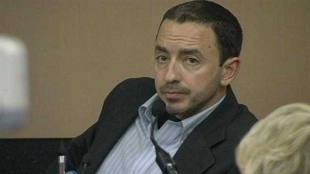 Radley Horwitz testifies on the second day of his mother's murder trial.