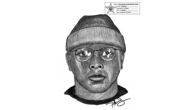 This is a sketch of the gunman who robbed the T.J. Maxx in Boca Raton.