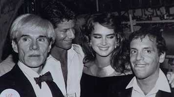 Andy Warhol, Calvin Klein, Brooke Shields and Steve Rubell were among the celebrities to be found at Studio 54 circa 1981.