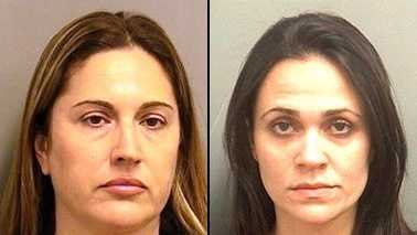 Sara Marin (left) and Denise McCoy are accused in a Boca Raton prostitution ring.