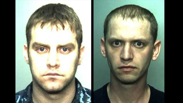 Police in Chesapeake, Va., say Jupiter native Cory Abshire (left) hired Marcus Hofferber (right) to kill his estranged wife.