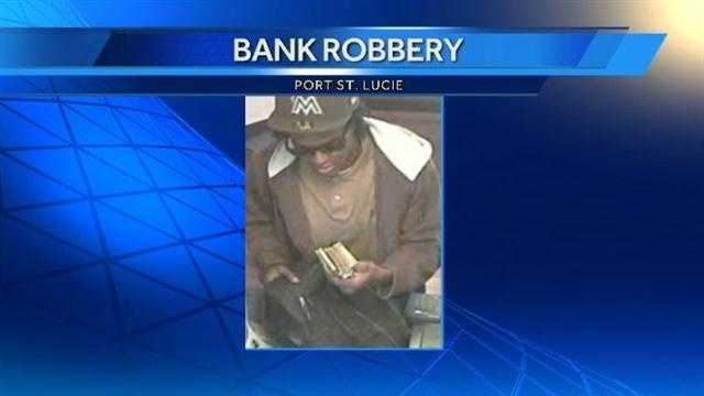 Port St. Lucie bank robbery suspect