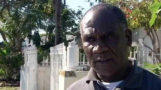 Ismith Jean describes how he came face to face with a home invasion suspect in Boynton Beach.