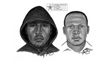 The Palm Beach County Sheriff's Office has released this sketch of these persons of interest in connection with the fatal shooting of Lisa Lombardo.