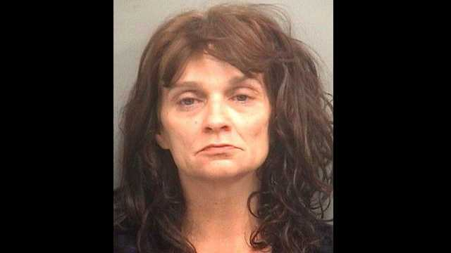 Kathy Jones is accused of spitting in the face of a West Palm Beach police officer.