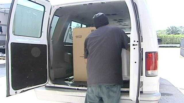 Palm Beach County Food Bank delivering freezers