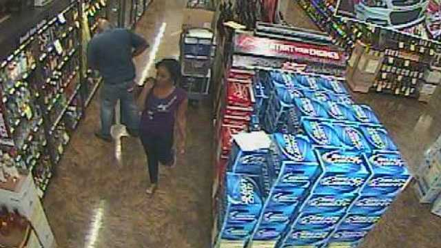 Deputies are trying to identify this woman who stole several bottles of liquor from Total Wine in Wellington.