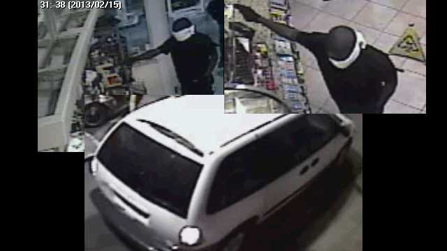 Police are trying to identify two men who robbed a BP gas station on Georgia Avenue early Friday morning.