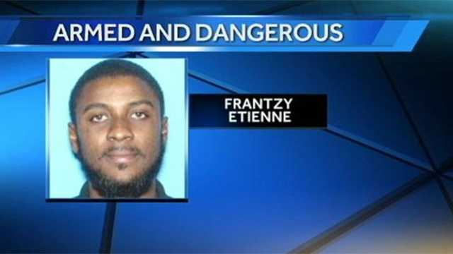 Frantzy Etienne is accused of breaking into a home in Hallandale Beach.