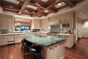 Kitchen sprawls 22 ft. by 17 ft.