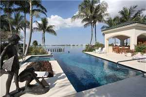 Infinitive pool seemingly converges with the intracoastal.