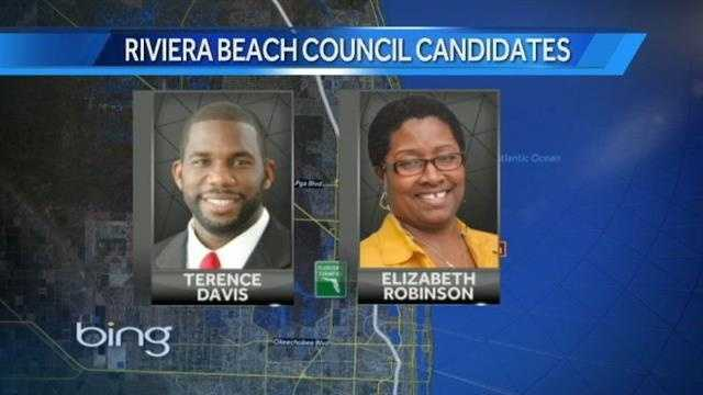 Riviera Beach candidates Terence Davis and Elizabeth Robinson
