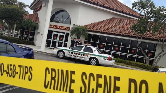 A man tried to rob this Wells Fargo bank in Lake Worth on Wednesday, but was arrested just a couple hundred yards away while attempting to get away on a bike. (Photo: Chris McGrath/WPBF)