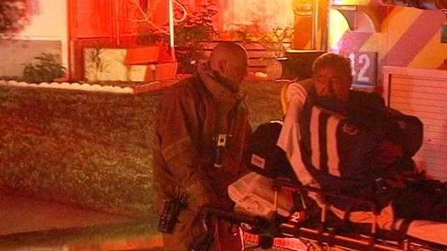This season resident was treated for smoke inhalation after a fire at his Boynton Beach mobile home.