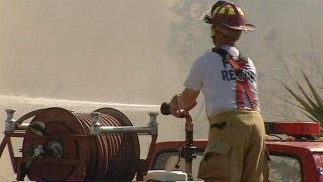 Image Hot spots continue to cause problems after Vero Beach brush fire