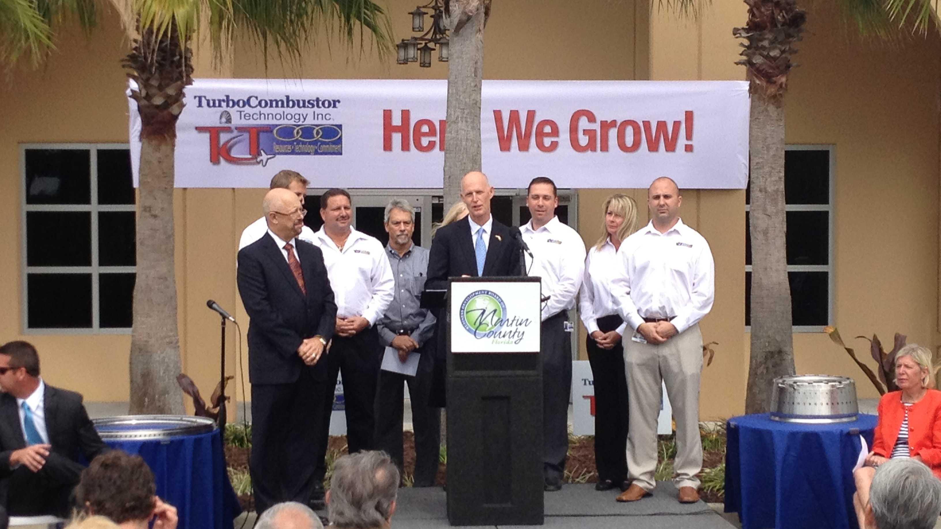 Gov. Rick Scott attends 'Here We Grow' news conference