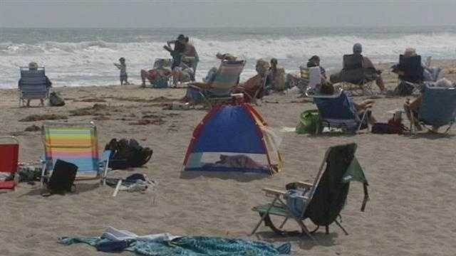 Rip currents make ocean swimming difficult