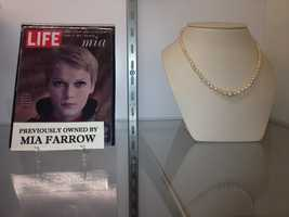 """Rosemary's Baby"" actress Mia Farrow, who was featured on a 1967 cover of Life magazine, once owned this necklace."