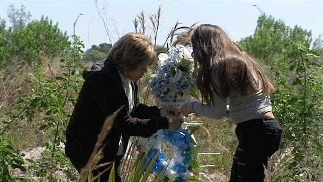 Family members return to a rural area of Palm Beach Gardens where the body of Francisco Cuevas was found five years ago.
