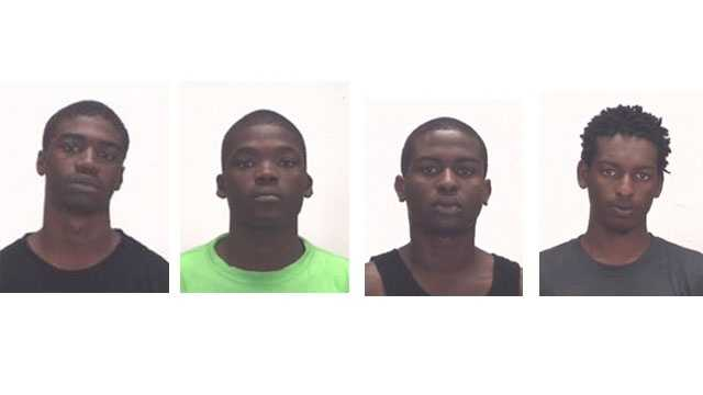 Shakeem Hill, Chauncey Lewis, Sidney Molines and Jaheim Richardson were arrested in Boca Raton.