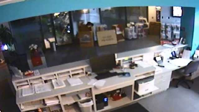 Smash-and-grab burglar at Stor-All