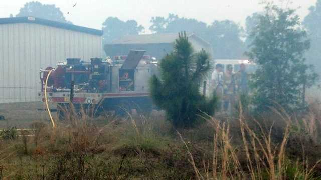 A 10-acre brush fire threatened three homes in Okeechobee County.