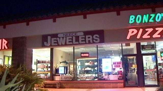 This jewelry store in Jupiter was robbed Saturday.