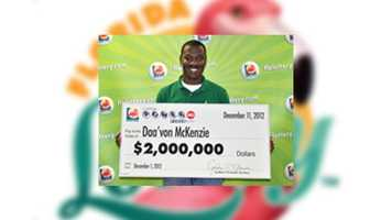 Daa'von McKenzie, of Kissimmee, won $2 million.