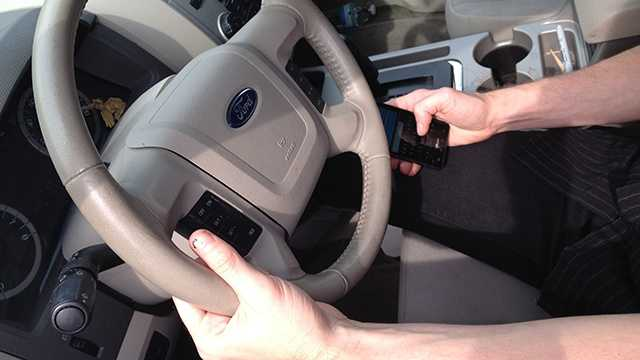 Generic Texting While Driving Image