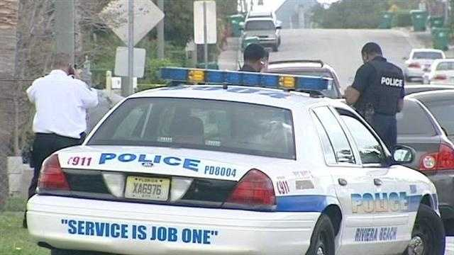 A police chase ends behind West Riviera Elementary School, prompting a lockdown while police search for the suspect.