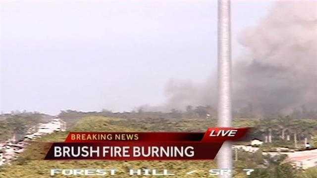 Brush Fire Burning (Breaking News)