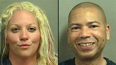 Deputies said they saw Tanya Wheeler and Ward Powell engaging in a sex act on the beach near Manalapan on Tuesday morning.