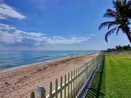 100 feet of direct beachfront.