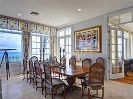 Dining room overlooks the ocean as well.