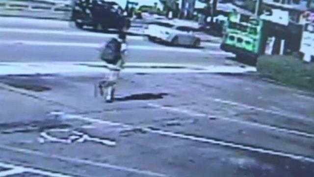 Teen runs after bus
