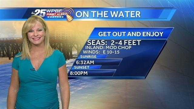 Sandra says another pleasant day is on tap around the Palm Beaches and Treasure Coast.