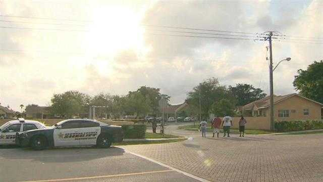 A 15-year-old girl was shot in the chest in this Pompano Beach neighborhood.