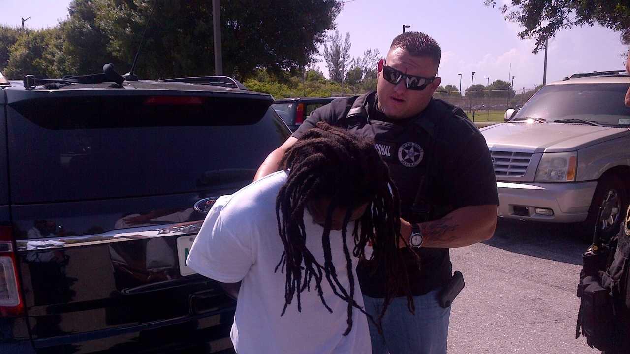Richard Thomas Jr. taken into custody