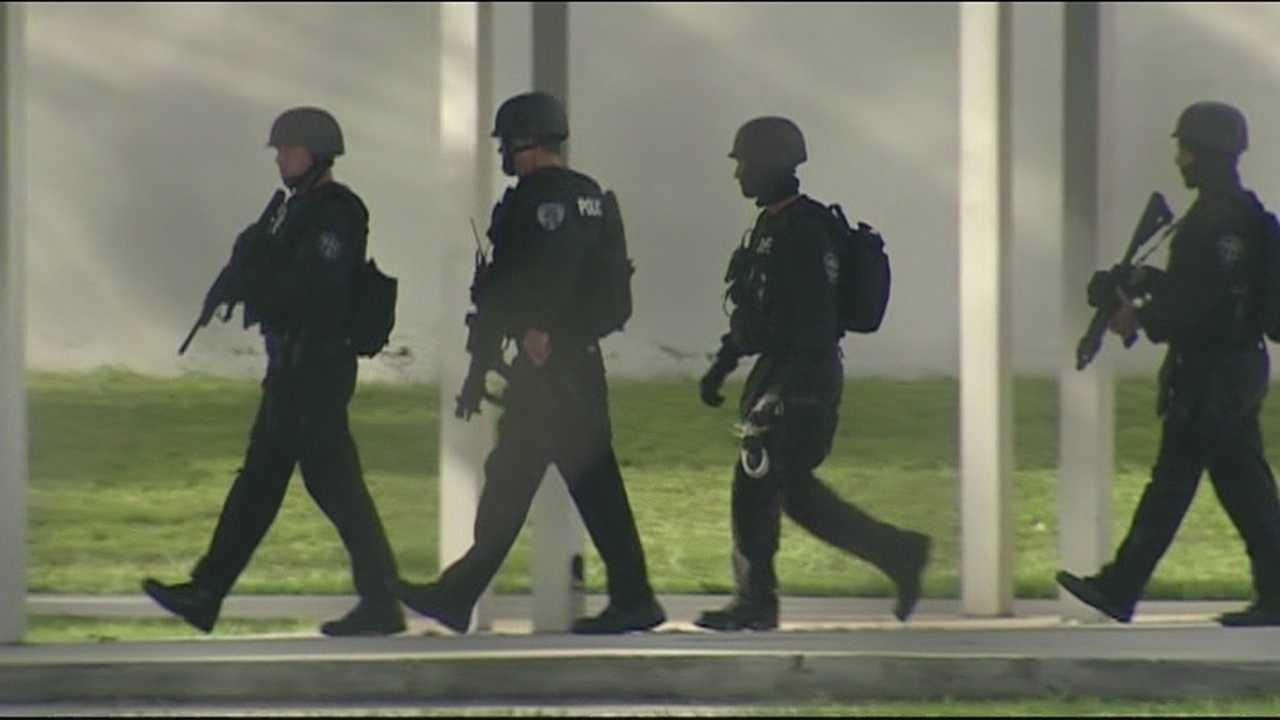 SWAT team at Dreyfoos